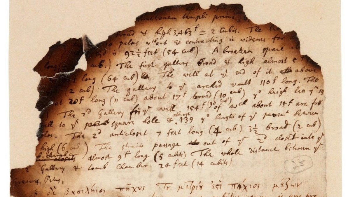 Recently-sold notes from Isaac Newton show he was obsessed with alchemy, pyramids, and the apocalypse. 🍎💥😅