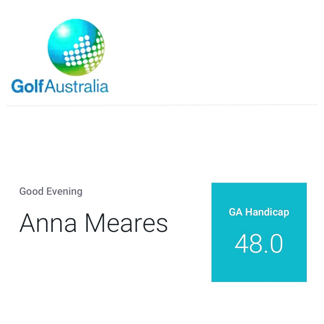 I HAVE A GOLF HANDICAP... and it's not the highest available! #winning thank you @GrangeGolf #ambassador https://t.co/sar4Sgk8RE