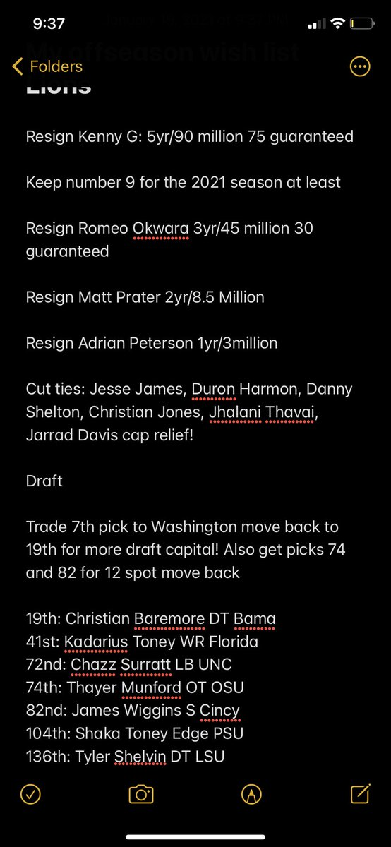 Offseason hopes! I think this is the best way to make moves make the team dramatically better but also not move on from number 9!! Big draft trades a fee nice veteran D pieces and a draft that had me getting 5 top 100 picks after trade backs! What do y'all think? #OnePride https://t.co/kBLTAK2onB