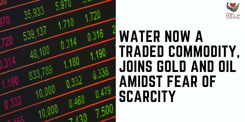 ⚠️⚠️Water, for the first time, was traded on Wall Street, highlighting the worries that its scarce quantity will affect a lot of people.  #water #WallStreet