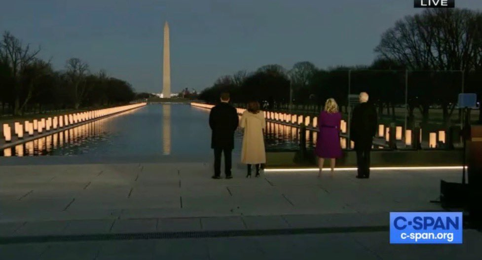 Very moving. Very presidential. Of course, the current president didn't take part. He checked out a long time ago...   #COVIDMemorial  #InaugurationDay #PresidentElectJoeBiden