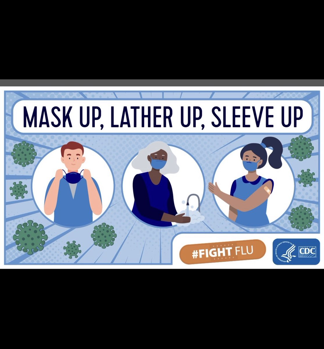 Getting a #fluvaccine is more important than ever #MaskUp #LatherUp hands w/ soap & water Roll your #SleeveUp for flu shot The more people vaccinated, the more people protected!  #HWH_FLU  #IDPH #CDPH #CDC #CenterForAsianHealthEquity #UChicago