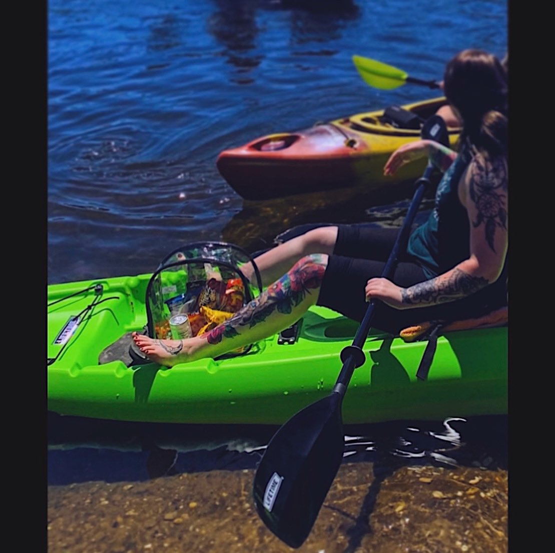 I miss kayaking 😓🛶 #igotallthesnacks #lake #kayak #summer