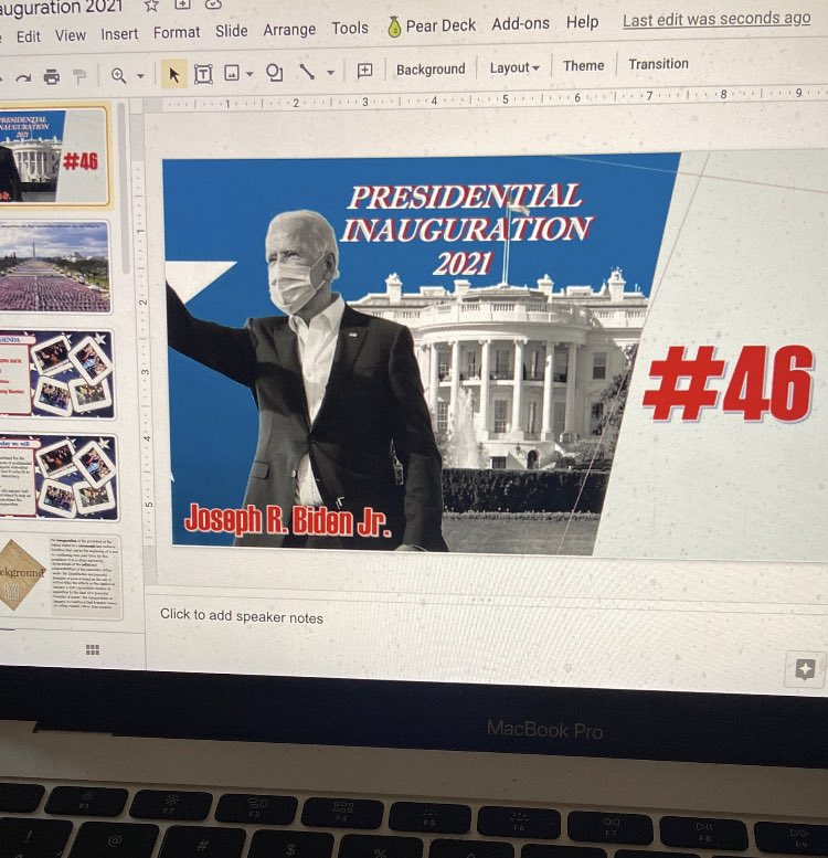 Currently working on.. #Inauguration2021