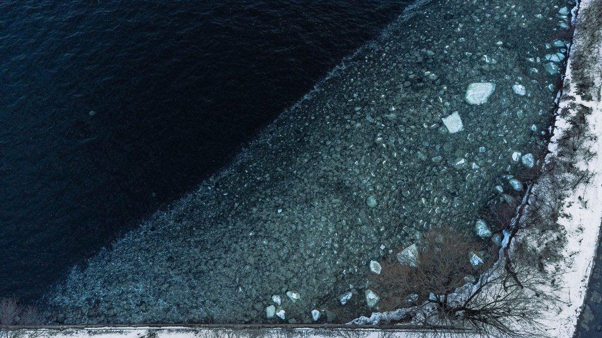 First shot of melting ice from an aerial shot #photography #photooftheday #photomode #drone #dronephotography