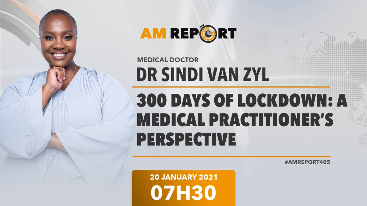 07h30 @Newzroom405   I'll be sharing how #COVID19 and lockdown have affected my work as a General Practitioner  #Day300OfLockdown