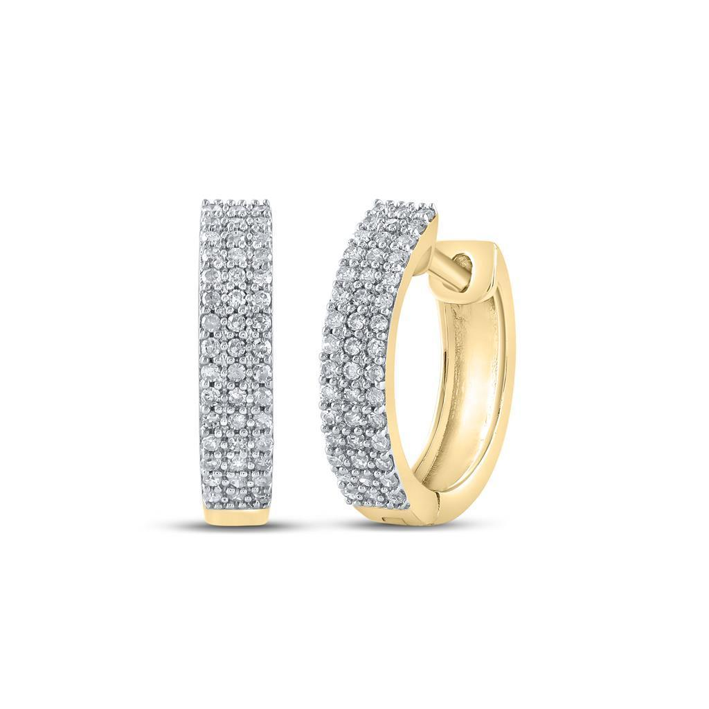 3 Row Hoop Diamond Earrings .25cttw 10K Yellow Gold! Bling Bling All Day- 25% OFF EVERYTHING - PROMO CODE Save25 #hiphop #hiphopbling #bling #model #photooftheday #instagood #nofilter #tbt #igers #picoftheday #love #nature #swag #lifeisgood #earrigns