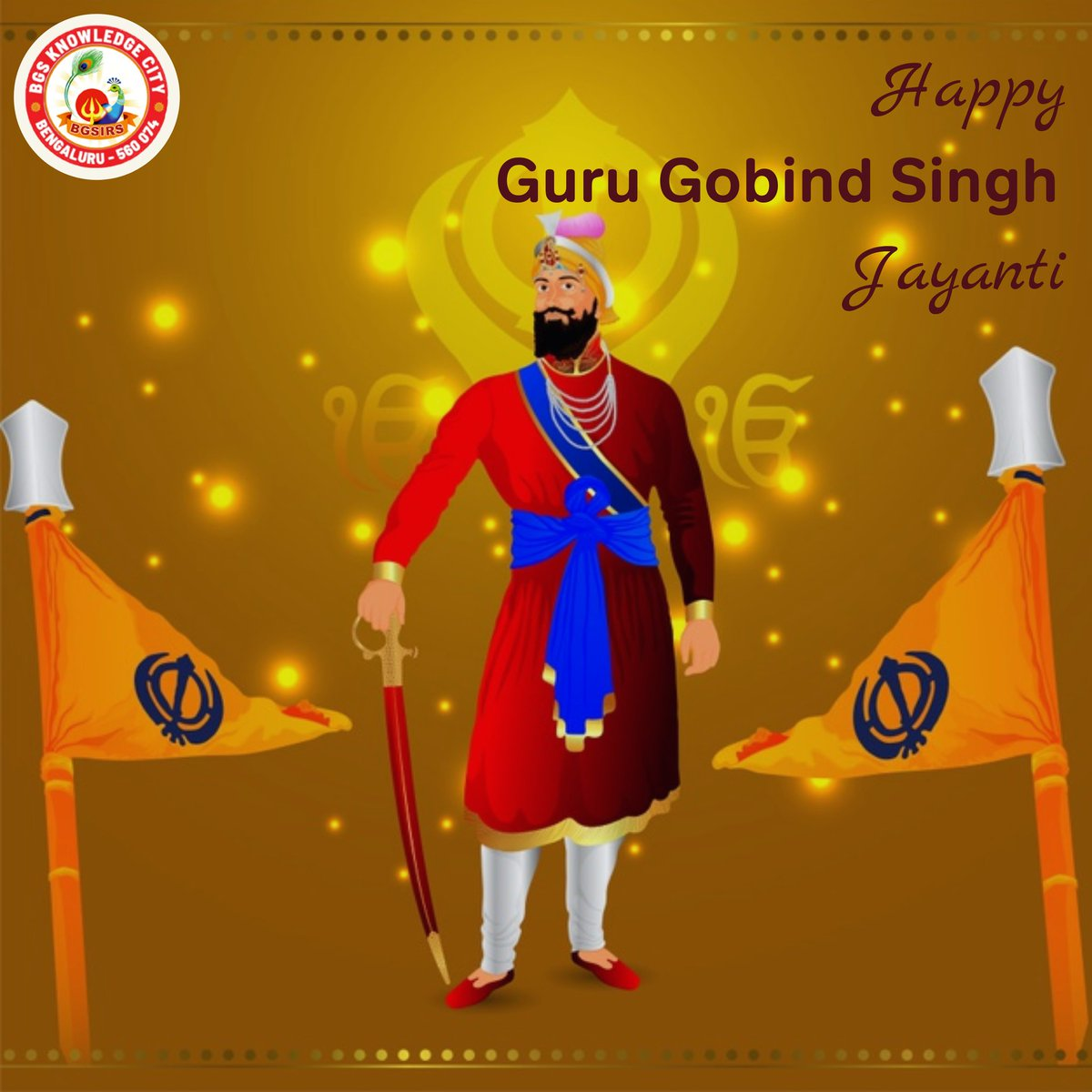 May his teachings enlighten us all, and fill our hearts with kindness and compassion. 💮  #BGSIRS wishes everyone a very happy Guru Gobind Singh Jayanti 🙏🏼  #GuruGobindSinghJi #Sikh #GuruPurab #GuruGobindSinghJayanti #Waheguru #GuruGobindSingh #SikhGuru