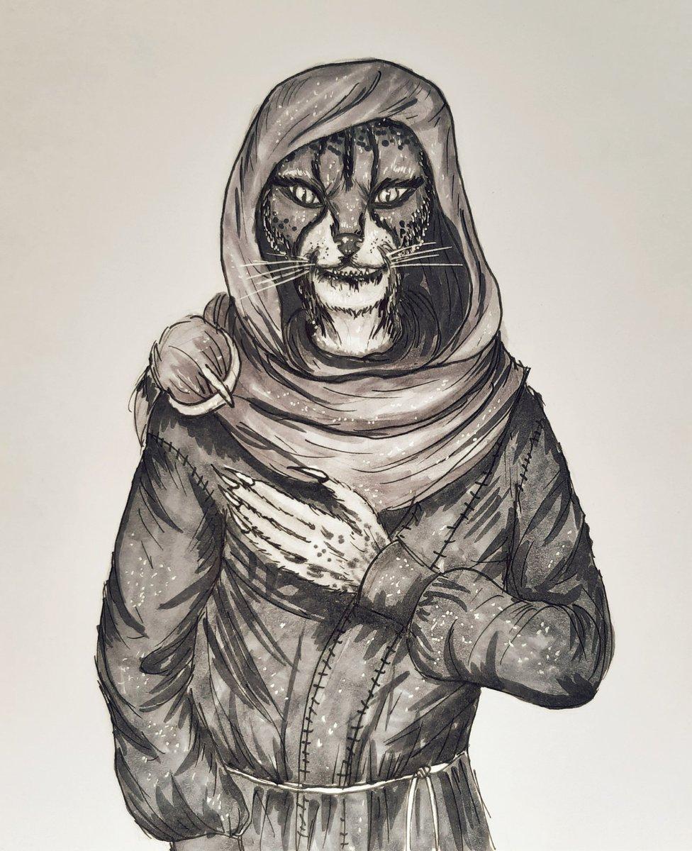 M'aiq the Liar #maiqtheliar #art #ArtistOnTwitter #artistsontwitter #TES #ESO #Skyrim #khajiit #artist #cat