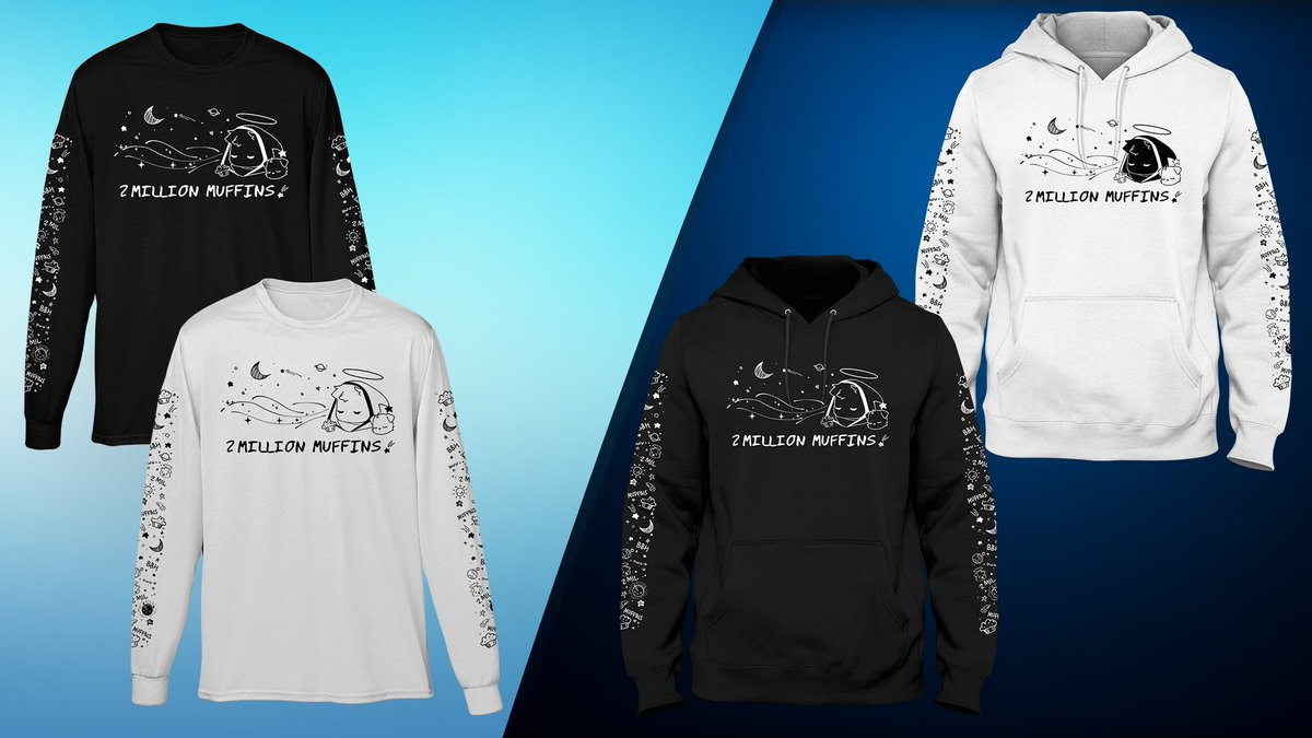 MY 2 MILLION MUFFINS MERCH IS LIVE!!!  It is only going to be available for a limited time! It is probably my favorite merch design ever I love it so much! Let me know what you think!   #2millionmuffins   Designer Credit @neutra_aki check em out!