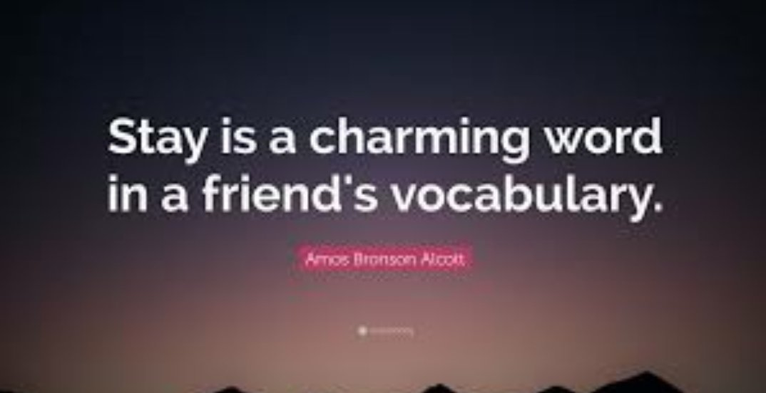 """Stay is a charming word in a friend's vocabulary.""  @Chrissy_Clarke @LesleyLupo @SJGreenHart @mindfulheal @1SunnySide @JolaBurnett @treasadovander @NevilleGaunt @AmandaRay02 @DrJDrooghaag @NutritiousMind @baski_LA @Blessedbhawna @DonnaFins @Hame1DM2020 #follow #love #friends https://t.co/7p4KQSp1QY"