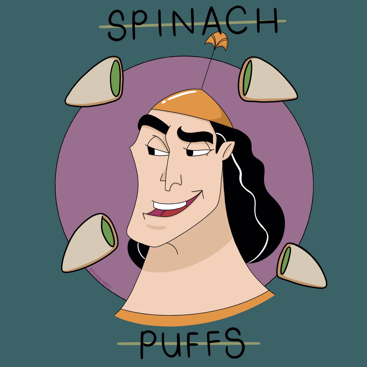 KRONK 💕 From card stock to a digital piece. #ArtistsOnTwitter #EmperorsNewGroove #SpinachPuffs