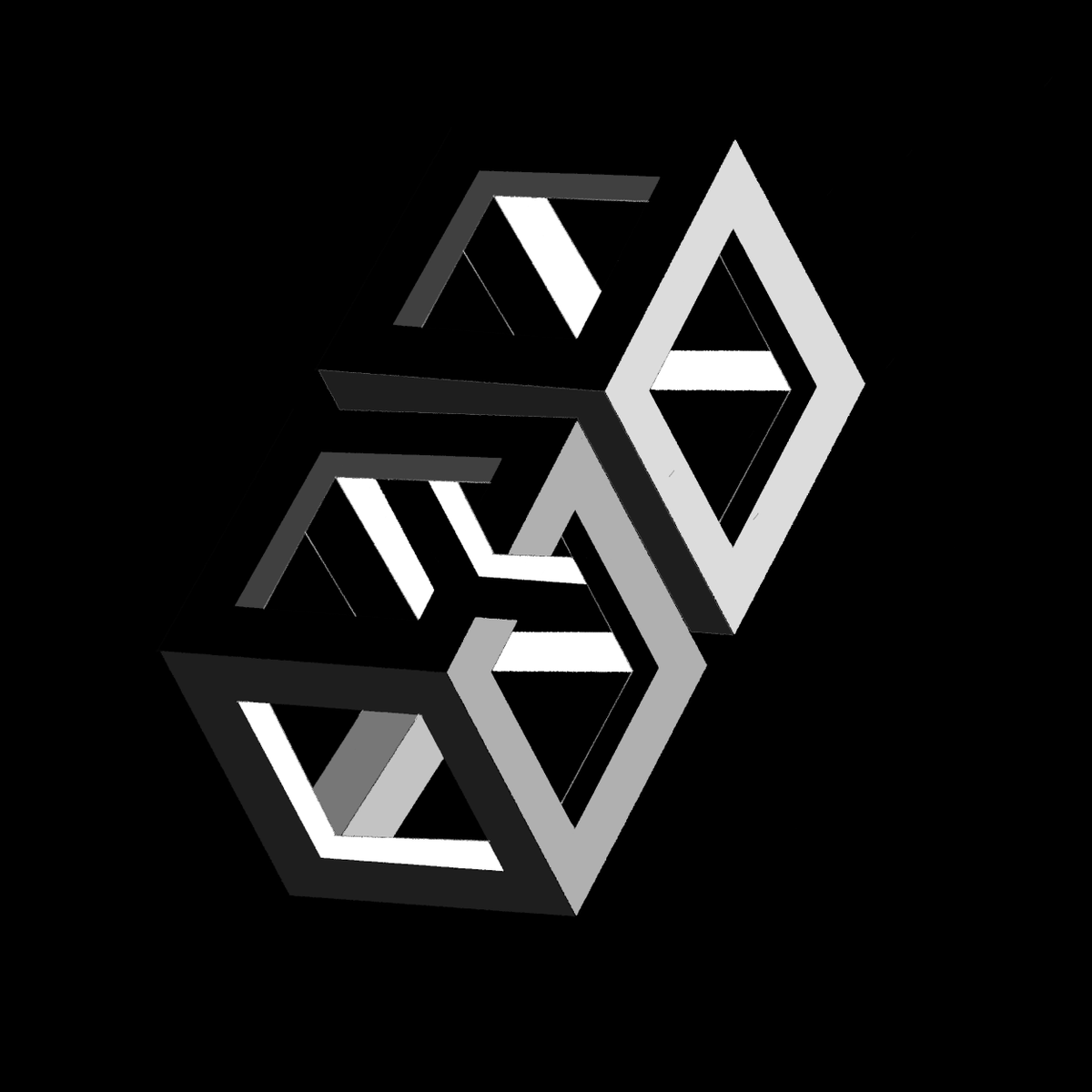 hai!! , sup ppls . i tried to draw some sort of illusion and tried using some geometry , idk if it turned out good enough , if you can , drop me a follow , and pls retweet and like !!😆 #procreateart  #artistsontwitter