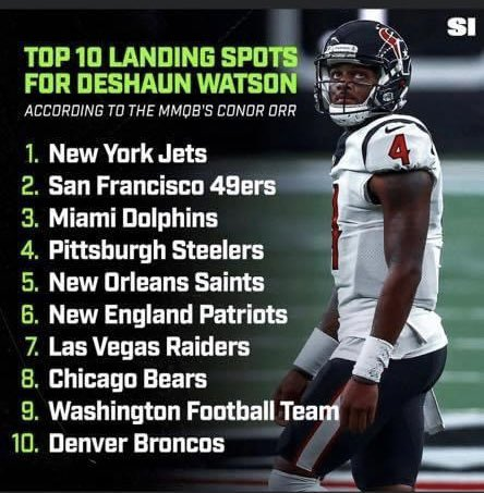 We say it on Sunday and we're told we are out of our minds. @SInow #mmqb says it and they are heralded 😂🤣 at least we can say Great minds think alike?   #WeSaidItFirst | #SportsIllustrated | #FishSports | #A2D | #DeshaunWatson | #WeAreTexans | #Jets