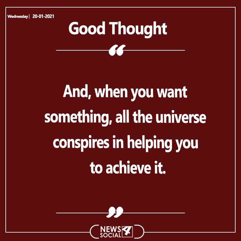 Good Thought 20-1-2021 Wednesday . . . #goodthoughts #motivation #positivevibes #goodvibes #motivationalquotes #thoughts #quoteofthedayy
