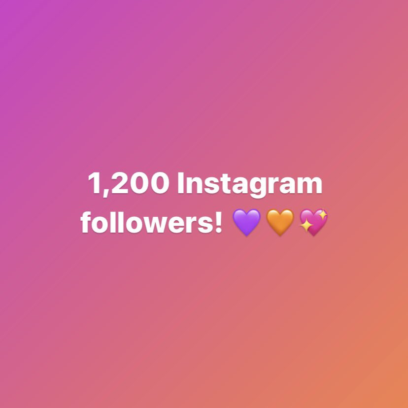 Thank you all for getting us to 1,200 followers! The next goal is reaching 1,300 followers.  #thankyou #thanks #grateful #goalaccomplished #goalreached #smallgoals #SMARTgoals #SMARTgoal