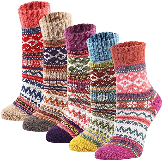 *Amazon Best Seller*  5 Pack Womens Vintage Winter Soft Warm Thick Cold Knit Wool Crew Socks, Multicolor, free size   https://t.co/PmLGiATUcg  #BwcDeals #Deals #clearthelists #dailydeals  #DealsAndSteals #fashion #Amazon https://t.co/dJjJOFJmwo