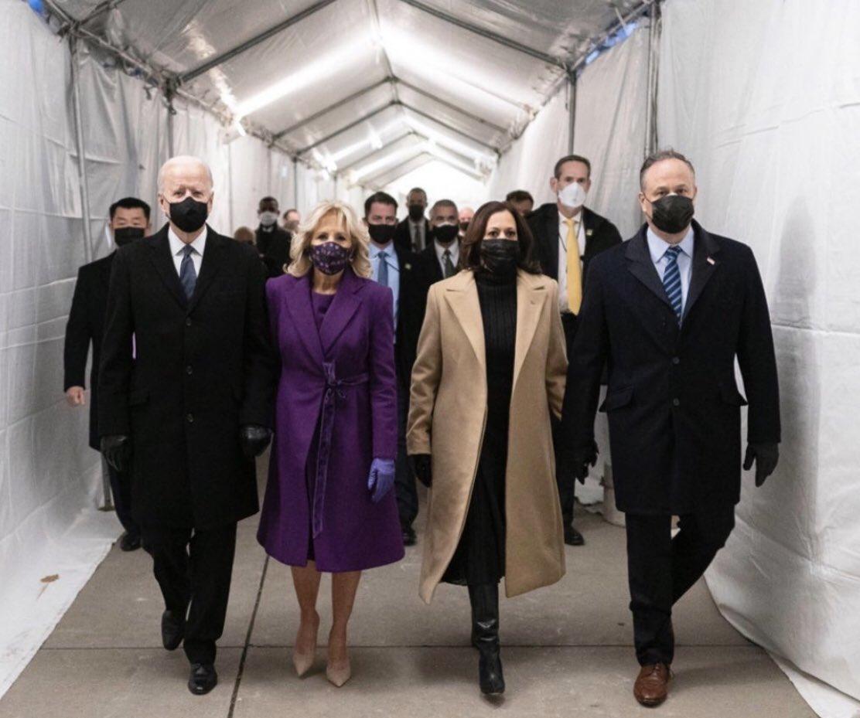 The heroes Americans needed on their way.   😢 God this makes me so proud!   God bless @JoeBiden, @KamalaHarris, @DrBiden, @DouglasEmhoff and #MayGodBlessTheUSA.   #Inauguration #Inauguration2021 #InaugurationDay #PresidentBiden #VicePresidentHarris
