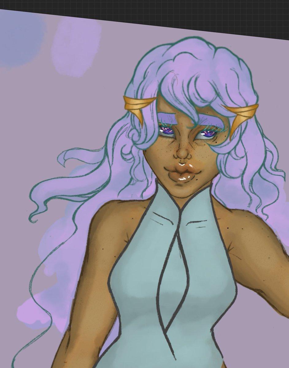 Kyria - #WorkInProgress  #wip #Artist #anime #OC #illustration #doodle #digitalart #procreateart #artistontwittter #art #artistsontwitter #artwork #characterdesign #portrait #conceptart