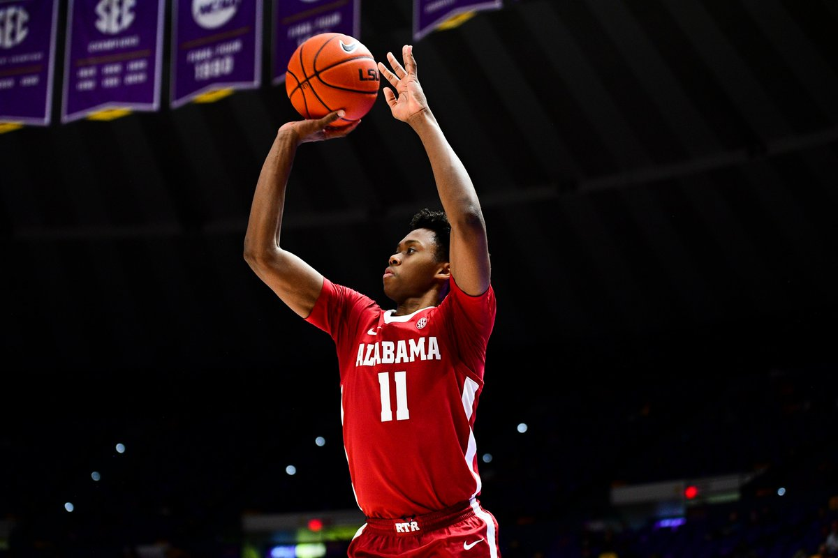 2⃣3⃣🐘 @AlabamaMBB has broken its own @SEC single-game record for 3-pointers made with 23 made tonight at LSU.