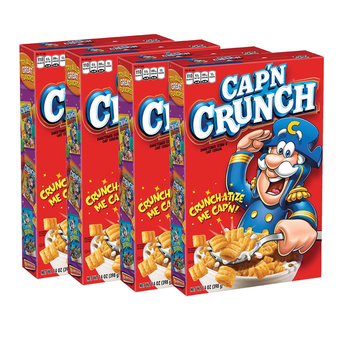 4 pack of Cap'n Crunch, as low as $6.48!!    MUST Select sub and save, can cancel after item ships, OR keep it at this low price!