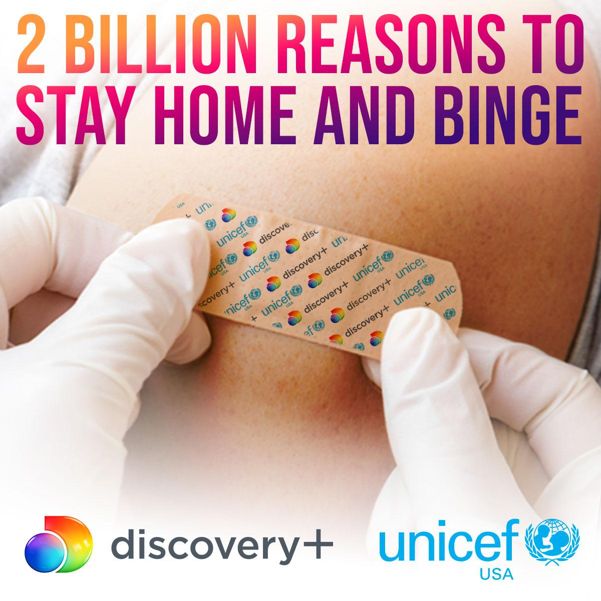 Purchase a subscription to @discoveryplus between now and April 19 and #discoveryplus will donate $1 to UNICEF USA to help deliver 2 billion doses of COVID-19 vaccines to global frontline workers and vulnerable populations in 2021➡️
