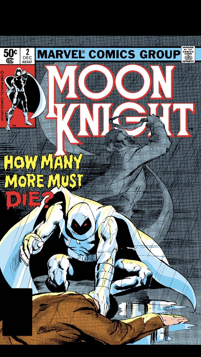 #comicbeforebed Moon Knight No. 2, December, 1980. Moon Knight calls Frenchie, puts on a disguise, and takes to the roof! 📞🥸😳 #MoonKnight #MarvelComics #MarvelUnlimited #digitalcomics @Marvel @MarvelUnlimited