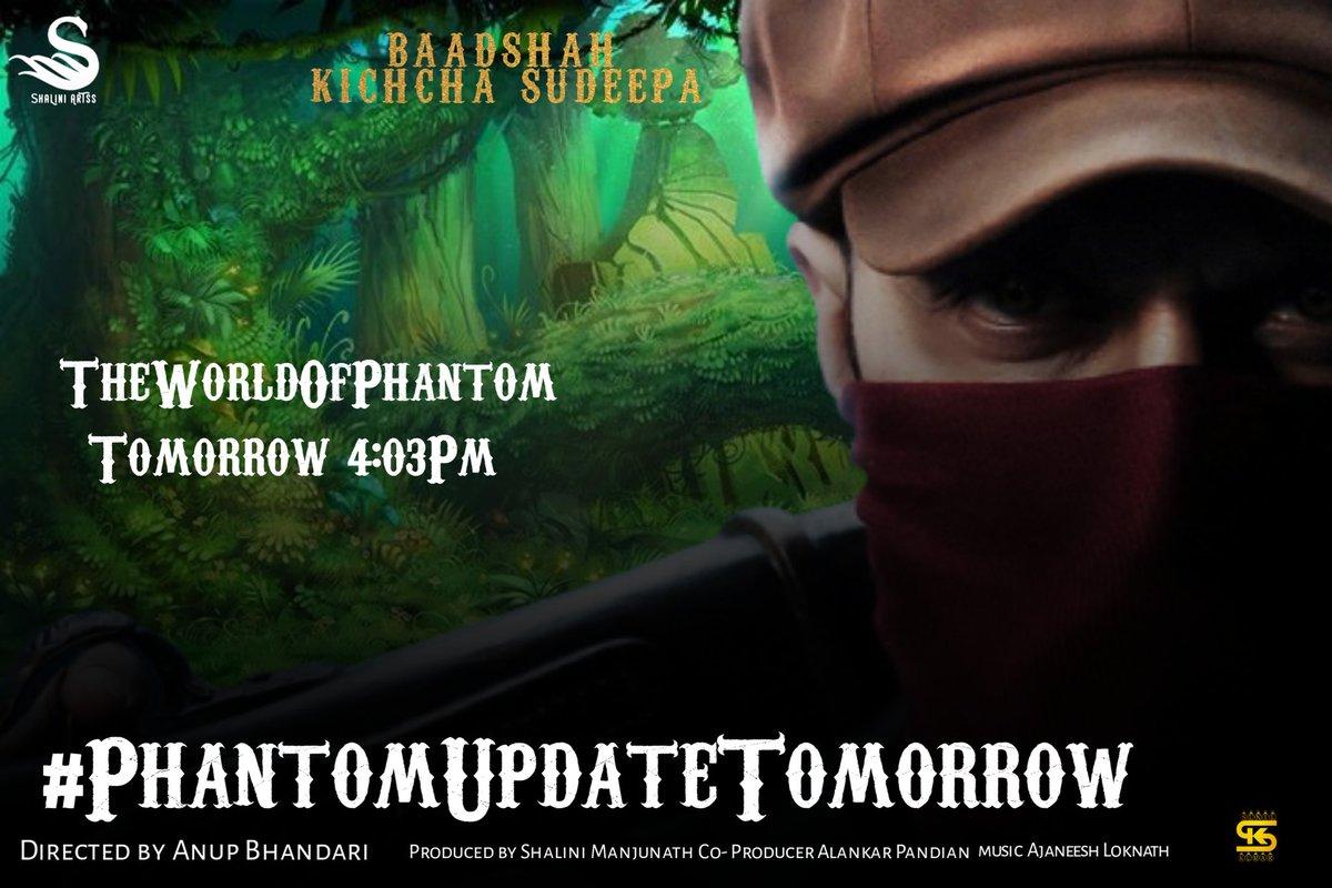 Just 1 day to go 🔥💥  @KicchaSudeep @anupsbhandari @nirupbhandari @neethaofficial @JackManjunath  #PhantomUpdateJan21  #PhantomUpdateTomorrow  #Kotigobba3 #VikranthRona  #VakeelSaabTEASER