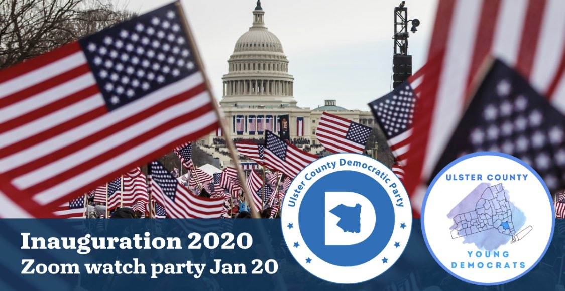 🌟⭐️ Join your neighbors and friends for Ulster Dems & Young Dems watch party for tomorrow's #Inauguration2021: ⬇️⬇️⬇️