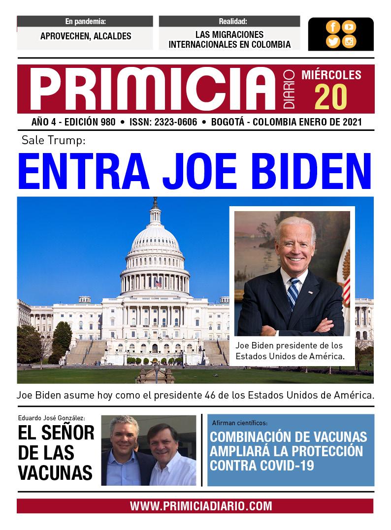 PRIMICIA DIARIO 20 DE ENERO 2021    #HolmesTrujilo , #presidenciais  #Elecciones2021   , #Washington  ,  #Biden #Elecciones ,  #EEUU , #Anoche  , #JoeBiden , #KamalaHarrisMakingHistory  ,  #COVID19 ,  #EstadosUnidos  , #Inauguration2021 , #Guarín  #Tweets