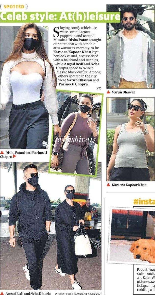 Celeb style : At(h)leisure   #DishaPatani #VarunDhawan  #KareenaKapoorKhan #ParineetiChopra @ParineetiChopra @Varun_dvn @DishPatani @Imangadbedi @NehaDhupia