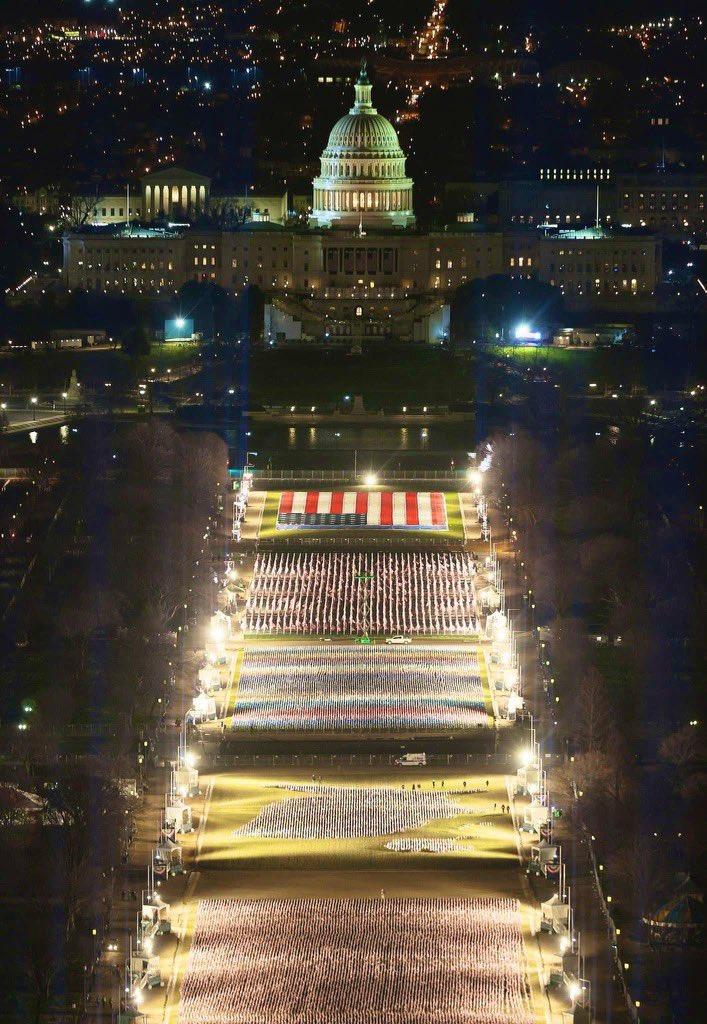 Washington DC espectacular antes del cambio de poder...  #Inauguration2021  #InaugurationDay  #BidenHarrisInauguration