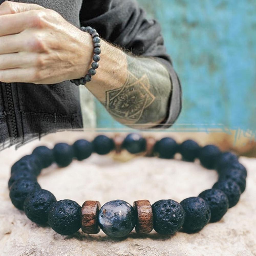 Men's Natural Moonstone Beaded Bracelets #design #likeforlike