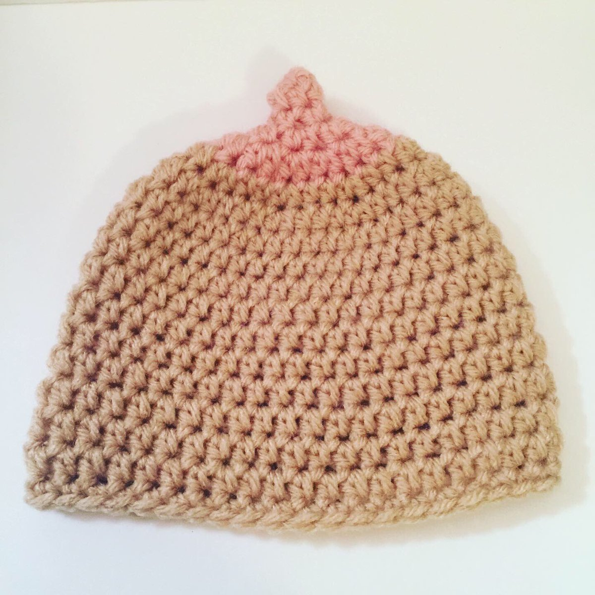 This #boob #beanie is off to it's new home. Listed in my #etsy #shop. I'm also working on getting the #free #pattern out. #kittyskreationsboutique #handmade #homemade #crochet #crocheted #hat #newborn #baby #nursing #breast #breastfeeding #gift #present #babyshowergift