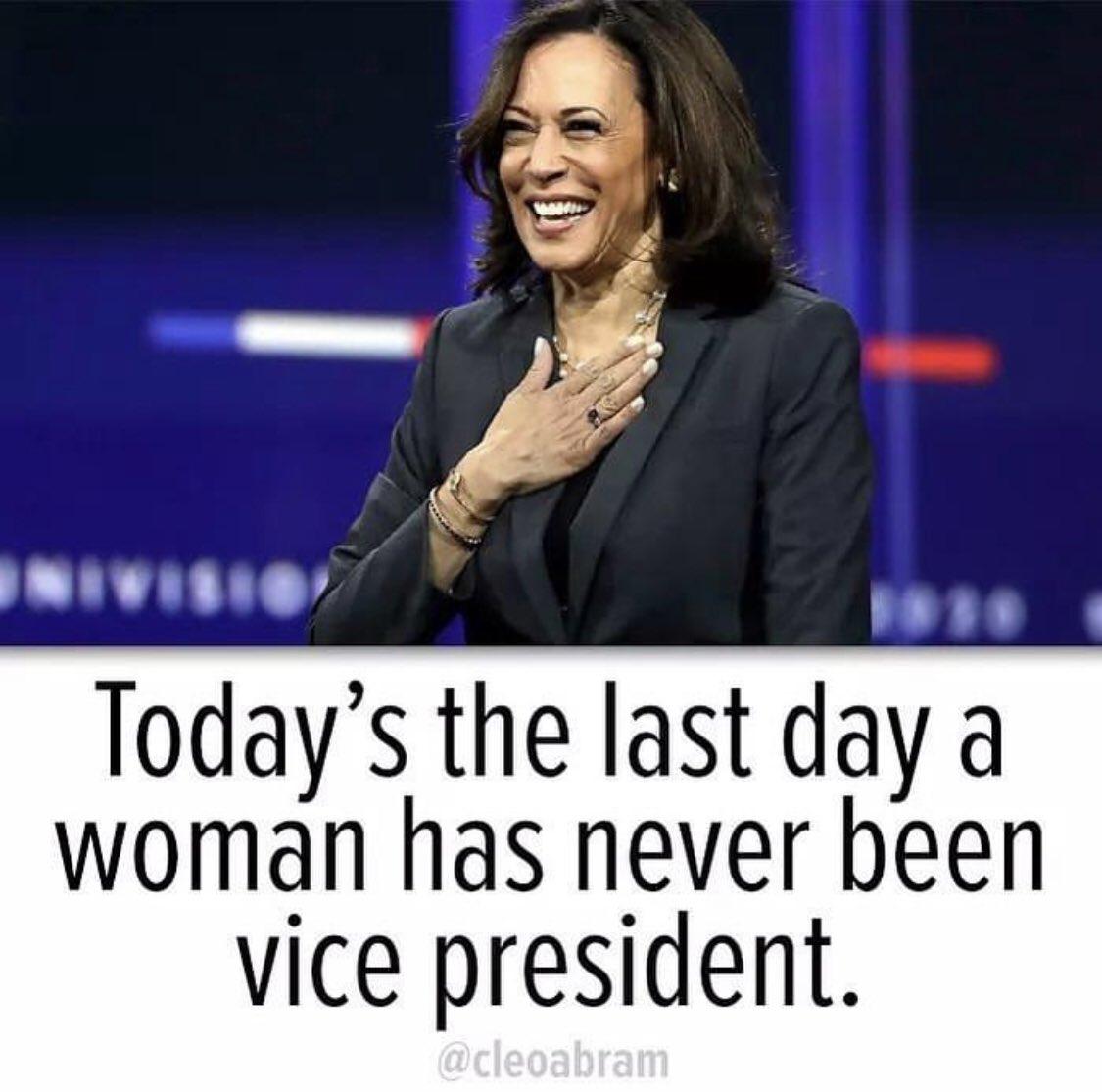 Headed to bed with so much hope for tomorrow! It's a beautiful time to be a woman! 💙💙 @JoeBiden @KamalaHarris #BidenHarrisInauguration #BidenHarris2020 #InaugurationDay #PresidentElectBiden #Inauguration2021  #2020PresidentialElection #KamalaHarris #VicePresidentHarris