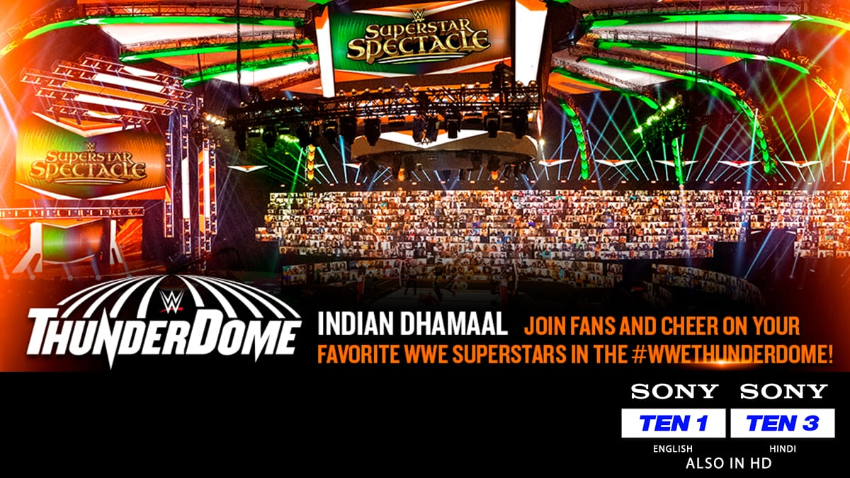 WWE Universe India, here is your chance to cheer for your favourite Superstar at WWE Superstar Spectacle from the #WWEThunderdome 🤩  Register yourself at  NOW  #SirfSonyPeDikhega #SonySports #WWESuperstarSpectacle #WWEonSony
