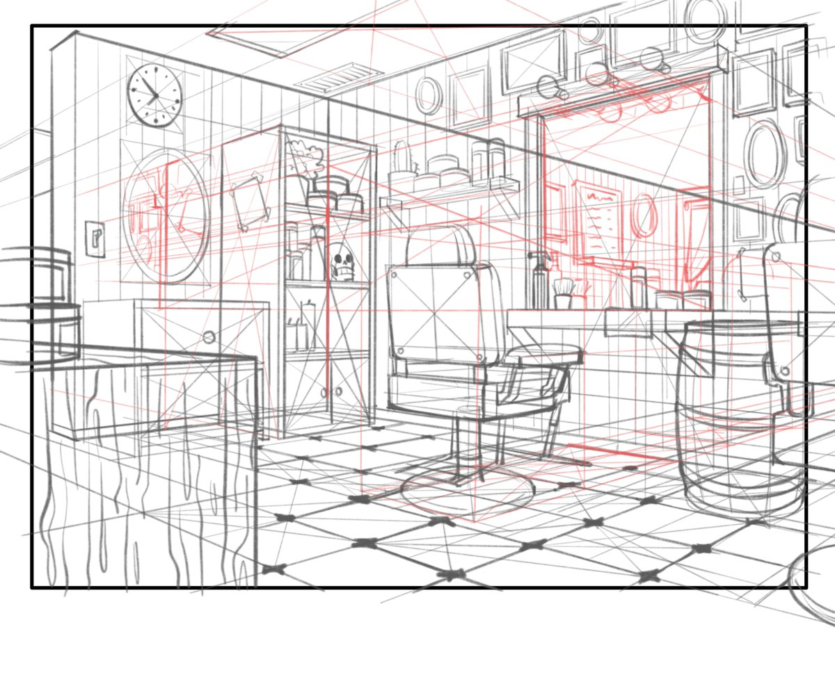 some roughs for a layout assignment I was able to finish tonight 🙏 just wanted to share the line chaos