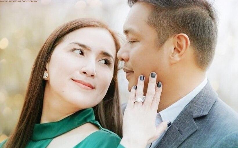 """Nung pinakita niya 'yung 'Will you marry me?' parang nakalutang ako."" Ara Mina recalls fiancé Dave Almarinez's wedding proposal READ HERE: https://t.co/l1oF7pX1Oc https://t.co/3ARMTK0dPc"