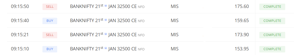 Quick scalping in #banknifty early morning... done for the day...#market #trader