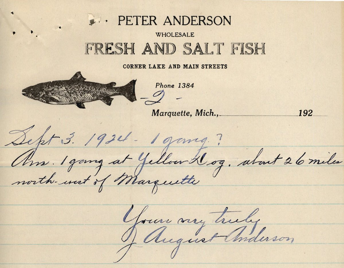 I am not using them now but thanks for your data, Mr. Anderson  #LakeSuperior #GreatLakes #fishing #Marquette #Michigan #USGS #History