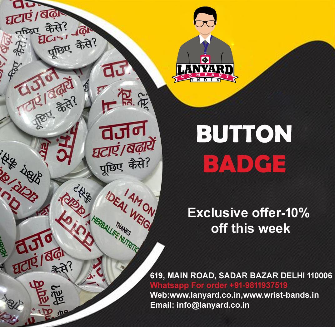 Manufacturer of customized Button Badge #lanyardcompanyindia #lanyardmanufacturer #lednamebadge #wristbands #shase #vocalforlocal #delhi #india #Trader #Wholesale #makeingword