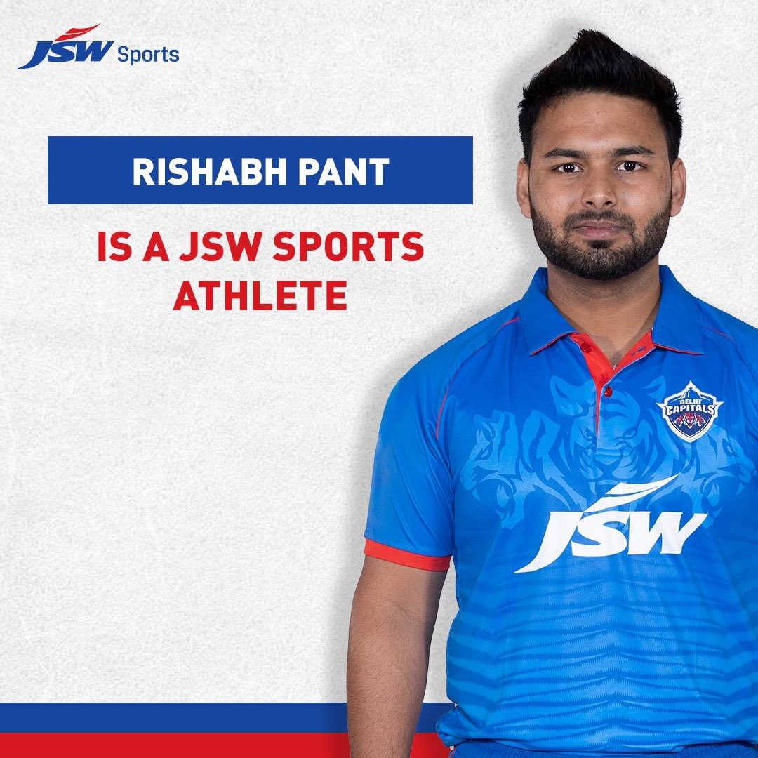 JSW Sports is pleased to sign @RishabhPant17 to our roster of exclusive talent! We will exclusively manage all of the Indian wicket-keeper's Commercial and Marketing Rights.  #WelcomeRishabh #JSWSports #BetterEveryday