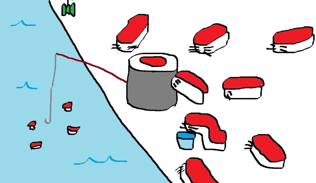 sushi !!  #sushi #ShiningYukie #illustration #illustrations #art #artwork #sketch #drawing #drawings #dibujo #dibujos #yummy  #fishing  #cat  #cats
