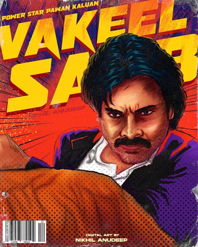 #PawanKalyan's #VakeelSaab Fan Made Pic goes Viral in Social Media