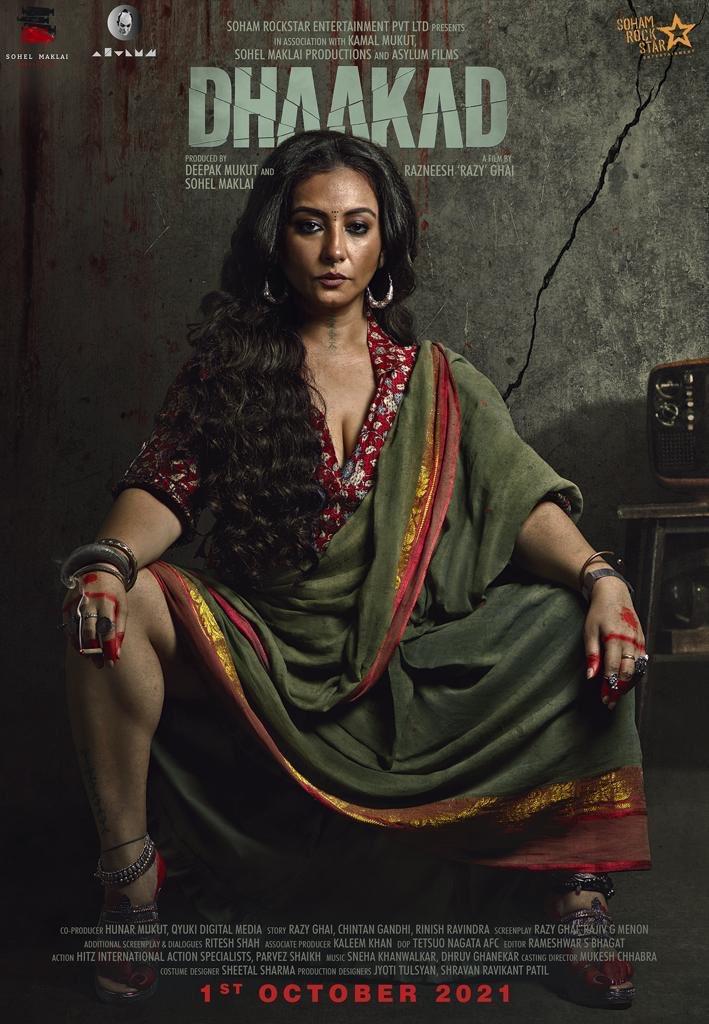 Meet @divyadutta25 as the menacing and deadly Rohini from @SohamRockstrEnt's #Dhaakad. Film to release in cinemas on 1st October 2021. @KanganaTeam @RazyGhai #sohelmaklai  @AsylumFilms  @rampalarjun @castingchhabra @rajiv_gmenon @writish #ChintanGandhi @zkrulz59 @MrSheetalsharma