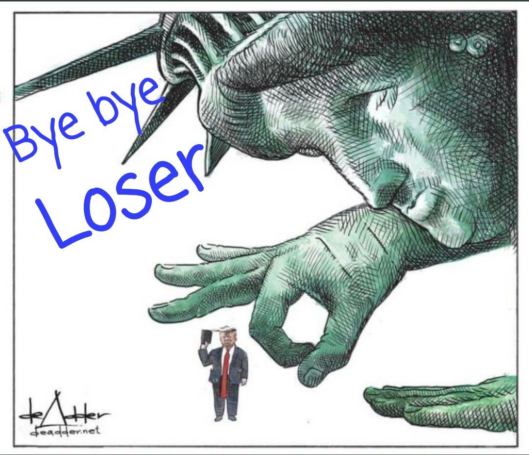 #GoodbyeDonnie we won't miss you one iota. 👇👇 #Loser