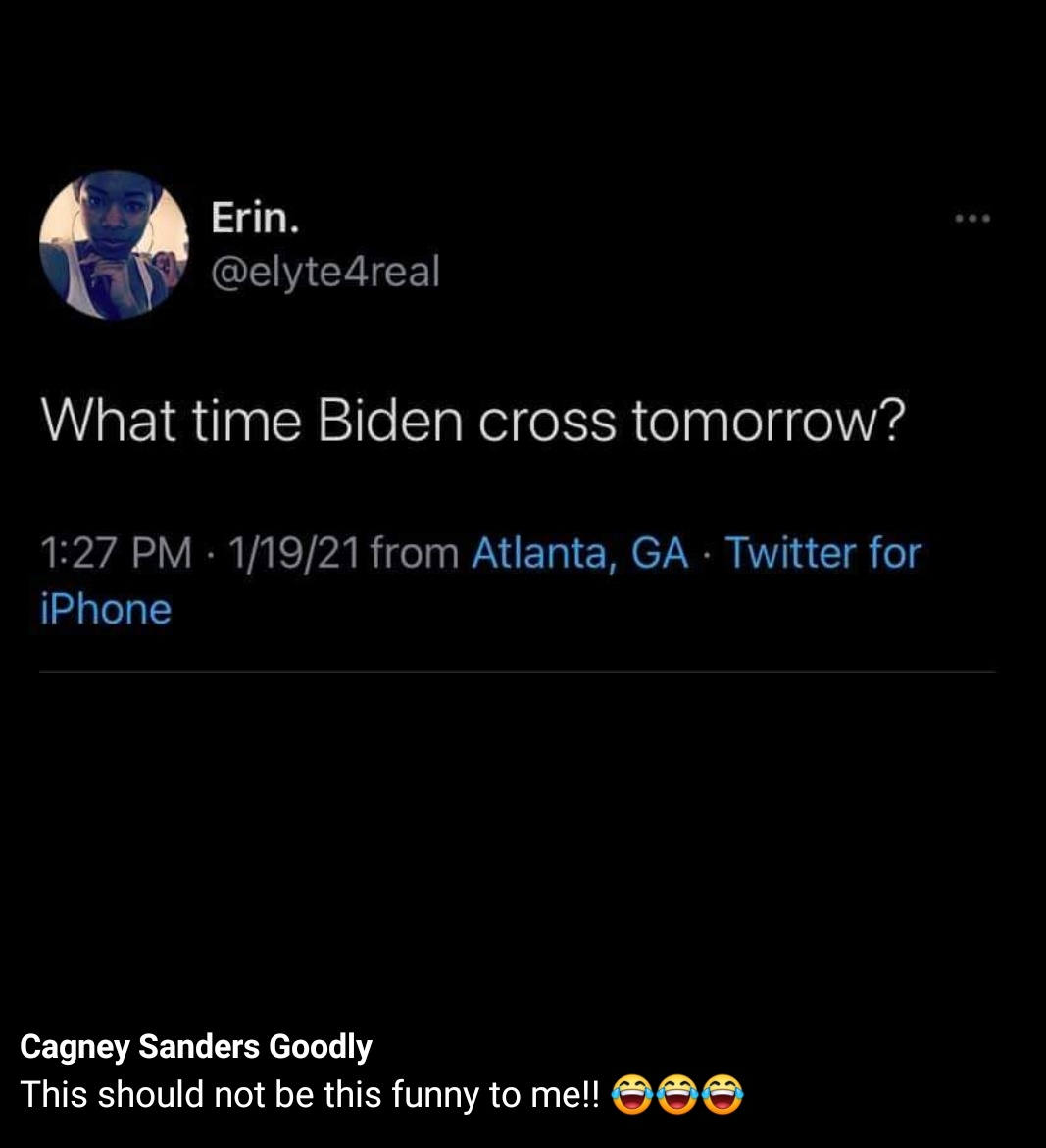 But what is his line name going to be? #BidenHarris2020 #BidenHarrisInauguration