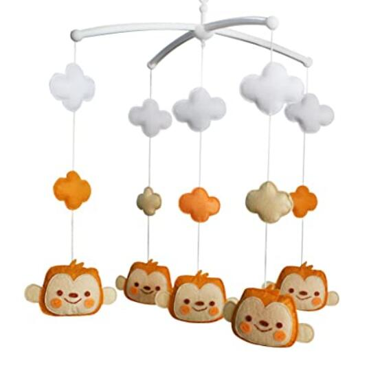 I'm a little monkey, who are you? Baby Crib Mobile at: . #baby #cribmobile #monkey
