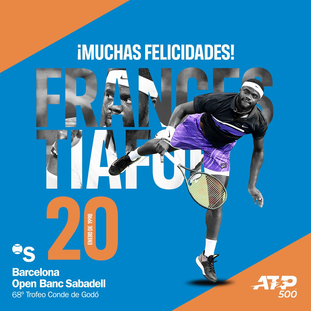 🎊¡MUCHAS FELICIDADES @FTiafoe ! 🎉  🥰 Hope you have the best day  👇🏻Write your birthday wishes  💬  #Atp #AtpTour #happybirthday