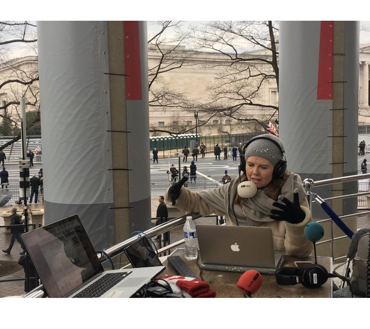 Four years ago today on Pennsylvania Avenue in Washington DC with @BBCNuala on a marathon 8 hour broadcast #InaugurationDay